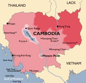 Карта Малярии в Камбоджи Телемедтревел